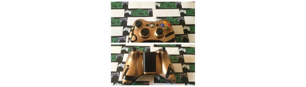 Gold & Black Xbox Controller w/ Design